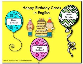 Birthday Cards in English