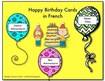 Birthday Cards in French
