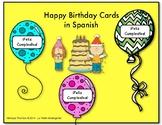 Birthday Cards in Spanish