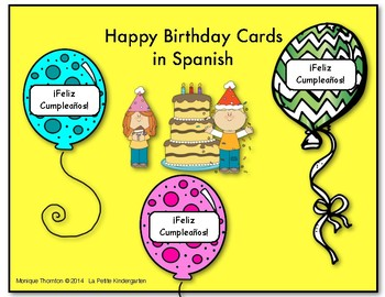 Birthday Cards in Spanish