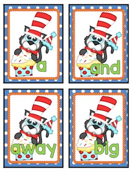 Birthday Cat Sight Word Building  PrePrimer Dolch Literacy Center