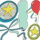 Birthday Celebration!  Balloon ClipArt - Star Clip Art - Party Confetti