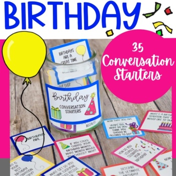 Birthday Celebration Conversation Starters And Writing