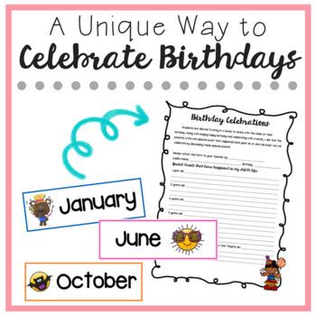 Birthday Celebration Form - Editable