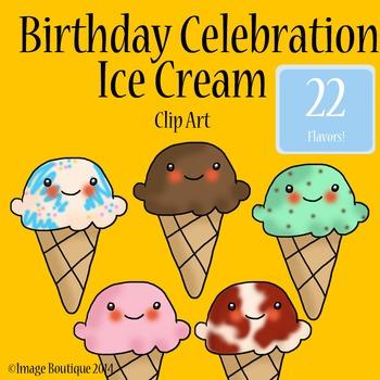 Birthday Celebration Ice Cream Clip Art