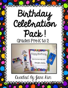 Birthday Celebration Pack Pre-K to 2nd