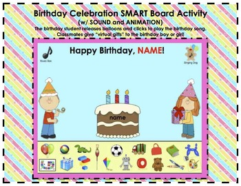 Birthday Celebration SMART Board *Bundled* Attendance and Classroom Activity