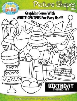 Birthday Picture Shapes Clipart {Zip-A-Dee-Doo-Dah Designs}
