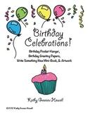 Birthday Celebrations! - Pocket Hanger, Greetings, Minibook, & Artwork