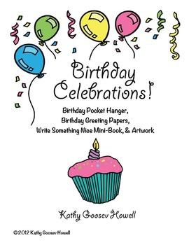Birthday Celebrations! - Pocket Hanger, Greetings, Miniboo
