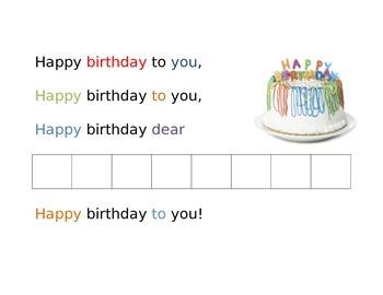 Birthday Center for Letter Tiles - (Literacy Centers)