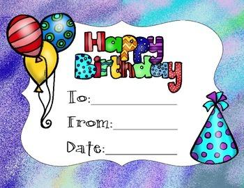 Birthday Certificate Set