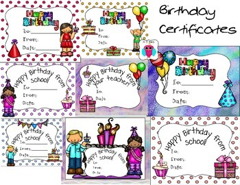 Birthday Certificate Set