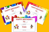 Birthday Certificat - Mickey Mouse Inspired