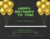 Birthday Certificate