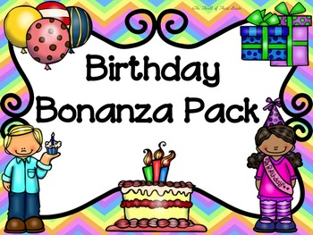 Birthday Bulletin Board--Certificate--Coupon--Card--Bookmarks--Book Page--Roster