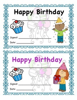 Birthday Certificate Girl and Boy