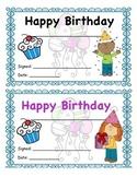 Birthday Certificate Girl and Boy