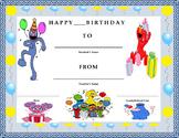 Birthday Certificate- Sesame Street Theme- Kids Will Love It!!