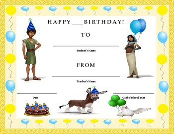 Birthday Certificate- The Star Theme- Kids Will Love It!!