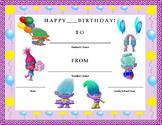 Birthday Certificate- Trolls Theme- Kids Will Love It!!