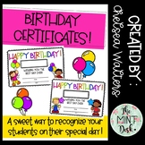 Birthday Certificates!