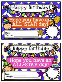 Birthday Certificates