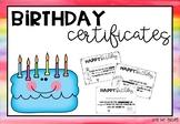 Birthday Certificates #luckydeals