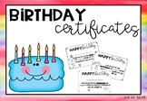 Birthday Certificates #ausbts19 #ringin2019