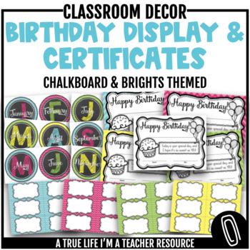 Birthday Certificates & Display