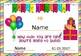 Birthday Certificates EDITABLE