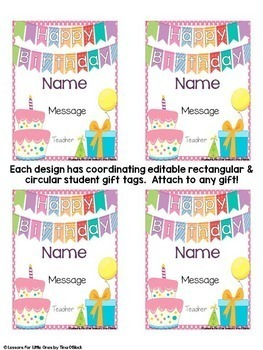 Birthday Certificates, Student Gift Tags, Brag Tags, Crown-Editable, 10 Designs