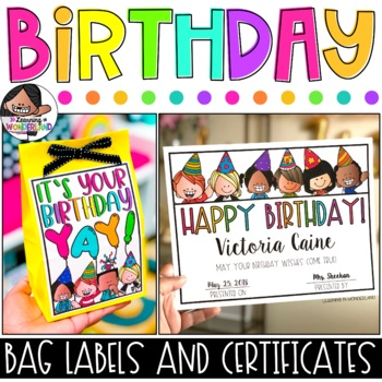 Birthday Certificates and Bag Labels