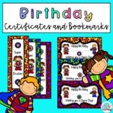 Superhero Birthday Certificates and Bookmarks