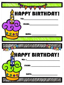 Birthday Certificates and Wish Lists