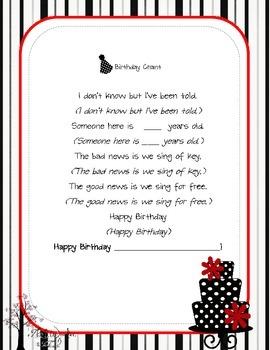 Birthday Chant Poster