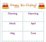 Birthday Chart 11x14