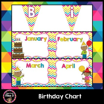 Birthday Chart By Tales From Miss D