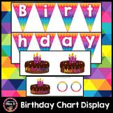 Birthday Chart Display Cakes