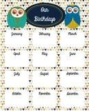 Owls Birthday Chart