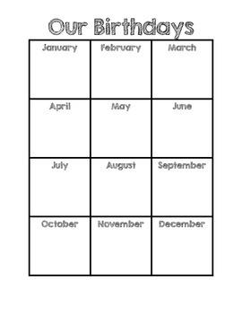 Birthday Chart BLANK