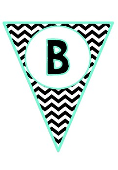 Birthday Chart - Black and Teal