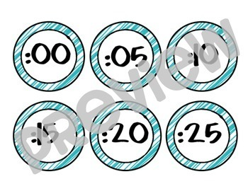 Clock Numbers: Various Sizes and Colors