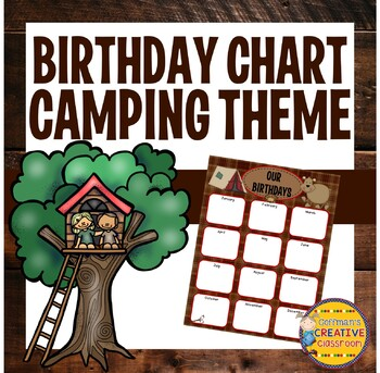 Birthday Chart Camping Theme By Coffmans Creative Classroom