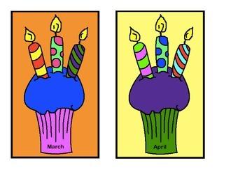 Birthday Chart - Cupcakes