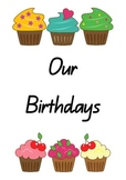 Birthday Chart - Cupcakes - Class Display