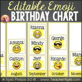 Birthday Chart Editable Large Pictograph Emoji Theme