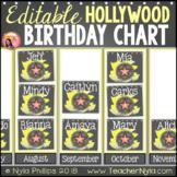 Birthday Chart Editable Large Pictograph Hollywood Theme