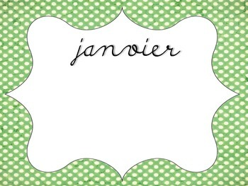 Birthday Chart French