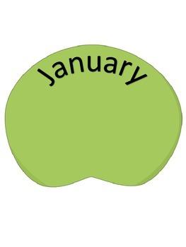 Birthday Chart Frog Themed